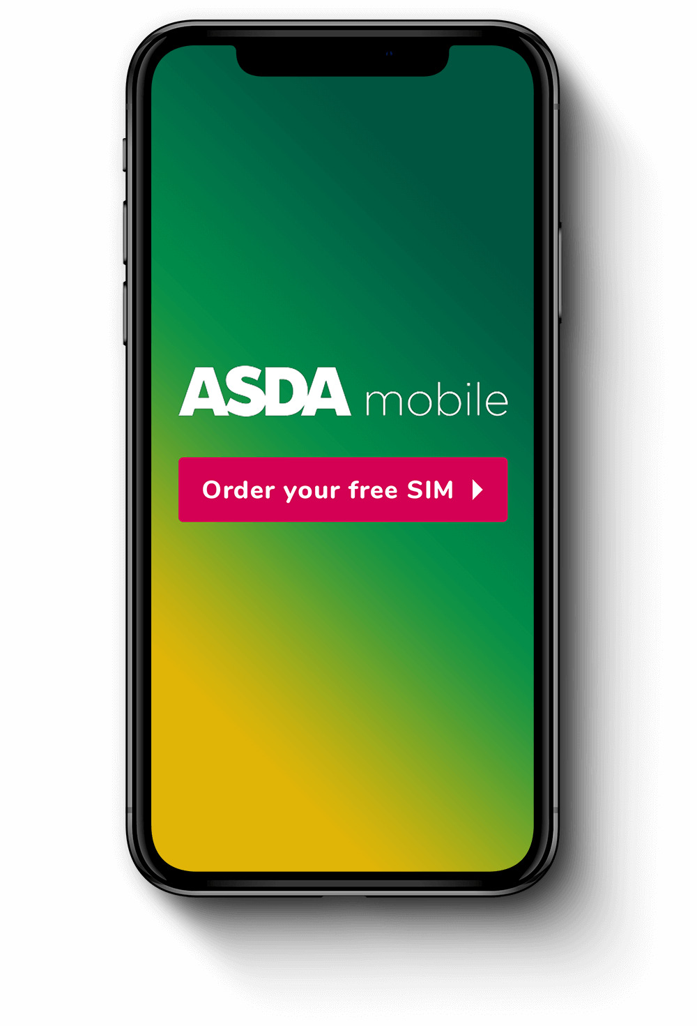 Asda mobile iPhone CTA