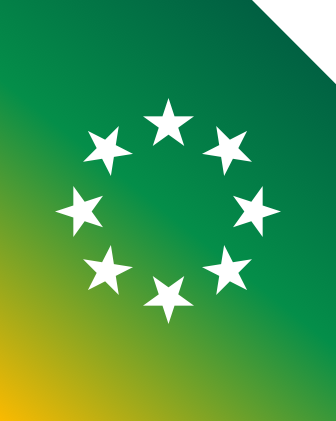 An image of the European flag stars to represent you can use your bundle in 50+ European destinations at no extra cost.