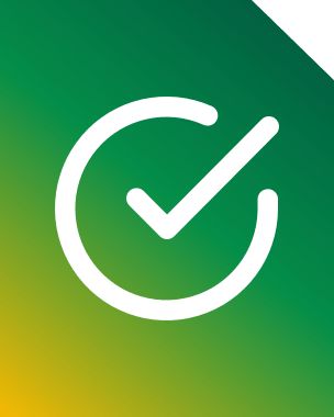 green sim card featuring ticked checkmark