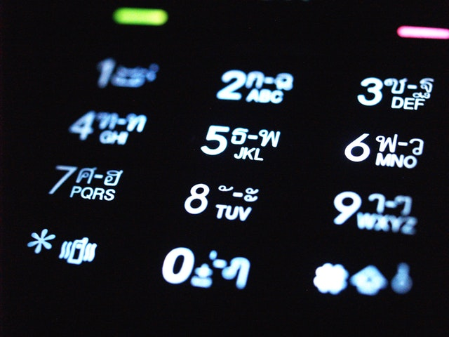 numbers on a phone